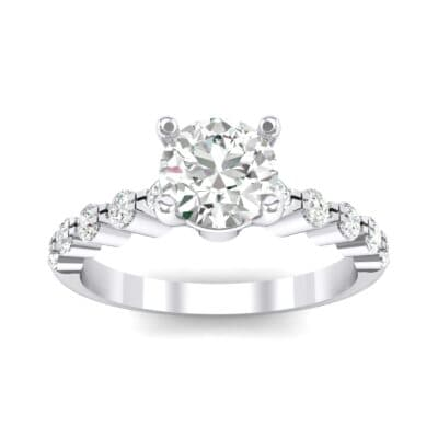 Bezel-Set Bubble Crystal Ring (0.78 CTW) Top Dynamic View