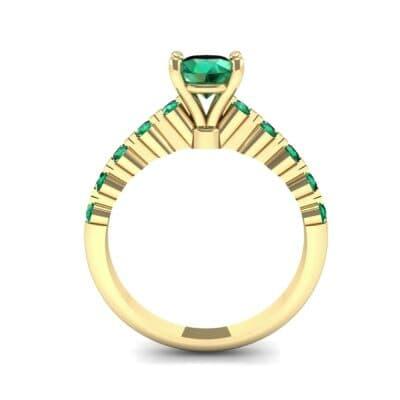 Bezel-Set Bubble Emerald Ring (0.78 CTW) Side View