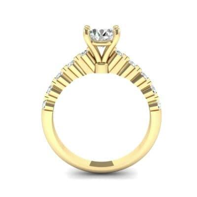 Bezel-Set Bubble Diamond Ring (0.78 CTW) Side View