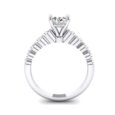 Bezel-Set Bubble Crystal Ring (0.78 CTW) Side View