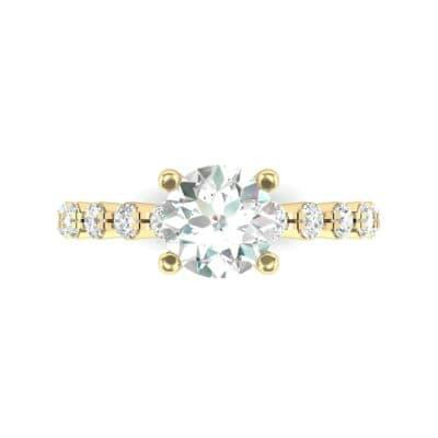 Bezel-Set Bubble Diamond Ring (0.78 CTW) Top Flat View