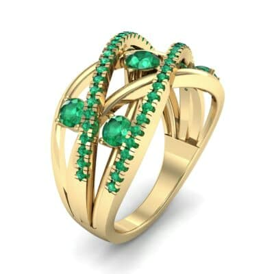 Star Jasmine Emerald Ring (0.89 CTW) Perspective View