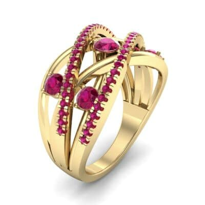 Star Jasmine Ruby Ring (0.89 CTW) Perspective View