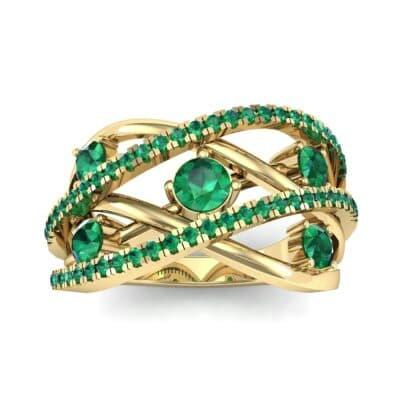 Star Jasmine Emerald Ring (0.89 CTW) Top Dynamic View