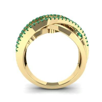 Star Jasmine Emerald Ring (0.89 CTW) Side View