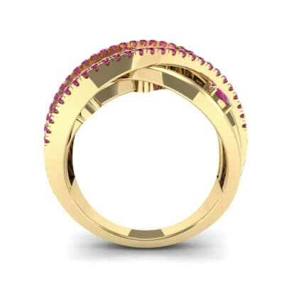 Star Jasmine Ruby Ring (0.89 CTW) Side View