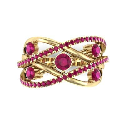 Star Jasmine Ruby Ring (0.89 CTW) Top Flat View