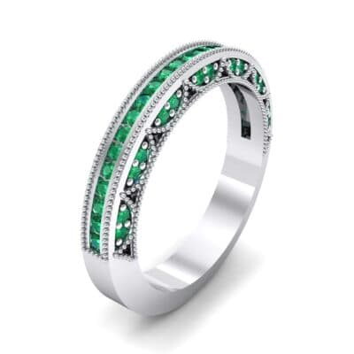 Three-Sided Palazzo Emerald Ring (0.34 CTW) Perspective View