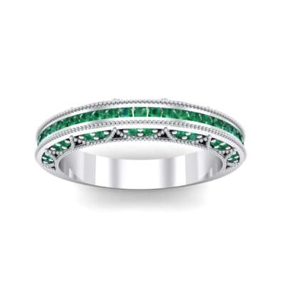 Three-Sided Palazzo Emerald Ring (0.34 CTW) Top Dynamic View
