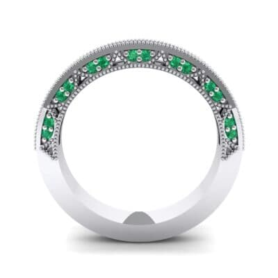 Three-Sided Palazzo Emerald Ring (0.34 CTW) Side View
