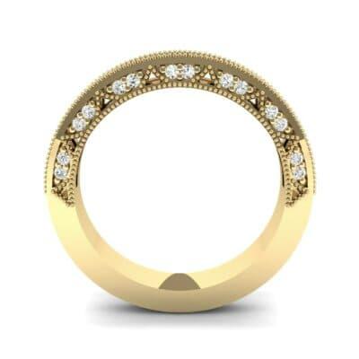 Three-Sided Palazzo Diamond Ring (0.34 CTW) Side View