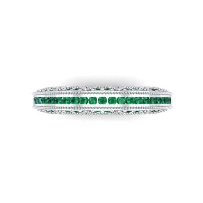 Three-Sided Palazzo Emerald Ring (0.34 CTW) Top Flat View