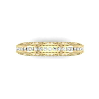 Three-Sided Palazzo Diamond Ring (0.34 CTW) Top Flat View