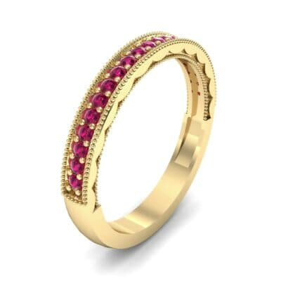Pave Palazzo Ruby Ring (0.21 CTW) Perspective View