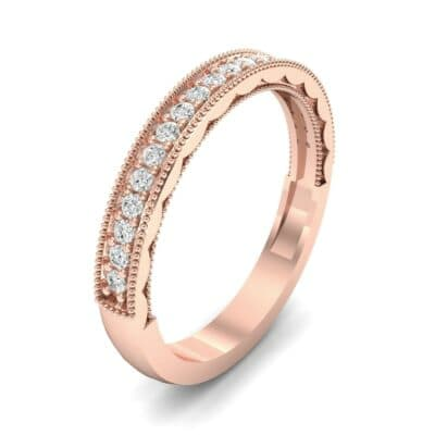 Pave Palazzo Diamond Ring (0.21 CTW) Perspective View