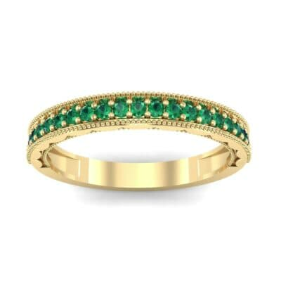 Pave Palazzo Emerald Ring (0.21 CTW) Top Dynamic View