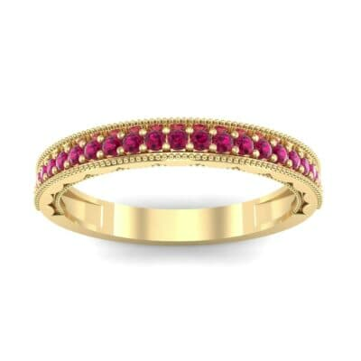 Pave Palazzo Ruby Ring (0.21 CTW) Top Dynamic View