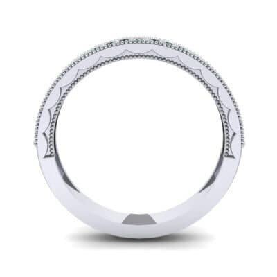 Pave Palazzo Emerald Ring (0.21 CTW) Side View