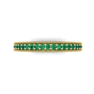 Pave Palazzo Emerald Ring (0.21 CTW) Top Flat View