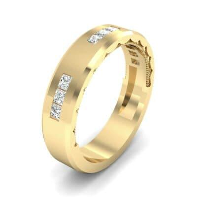 Demilune Threefold Diamond Ring (0.31 CTW) Perspective View
