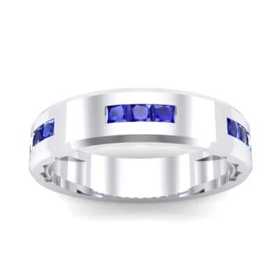 Demilune Threefold Blue Sapphire Ring (0.31 CTW) Top Dynamic View