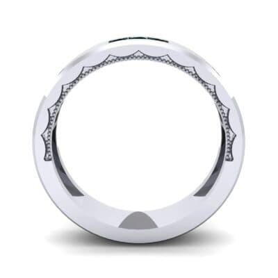 Demilune Threefold Emerald Ring (0.31 CTW) Side View