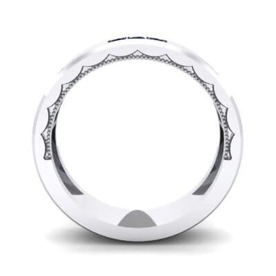 Demilune Threefold Blue Sapphire Ring (0.31 CTW) Side View