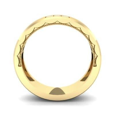 Demilune Threefold Diamond Ring (0.31 CTW) Side View