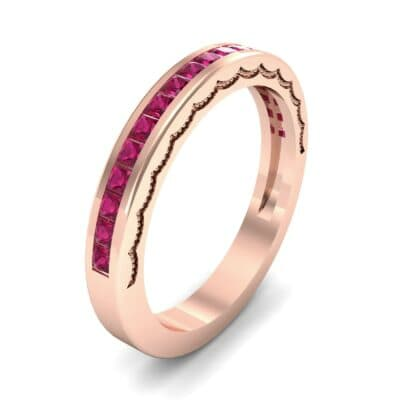 Channel-Set Demilune Ruby Ring (0.48 CTW) Perspective View