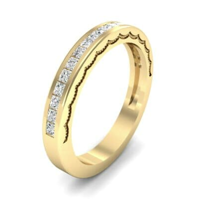 Channel-Set Demilune Diamond Ring (0.48 CTW) Perspective View