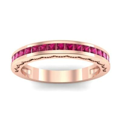 Channel-Set Demilune Ruby Ring (0.48 CTW) Top Dynamic View