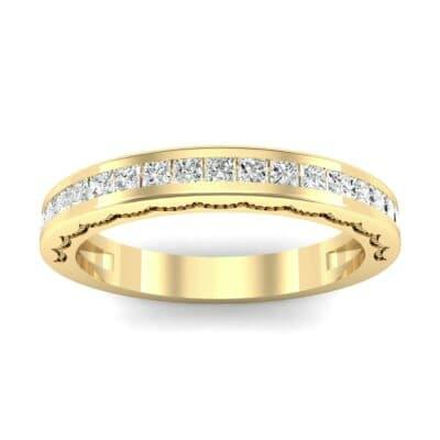 Channel-Set Demilune Diamond Ring (0.48 CTW) Top Dynamic View