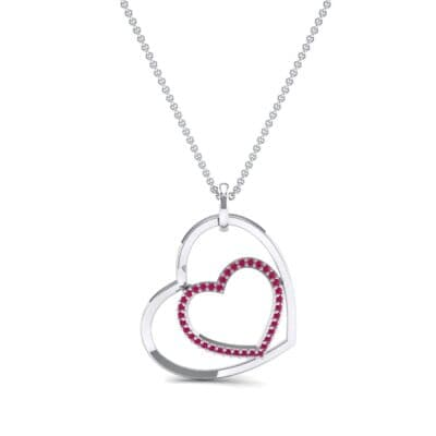 Nested Heart Ruby Pendant (0.19 CTW) Top Dynamic View