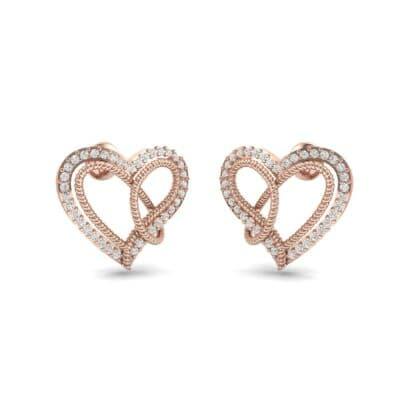 Lasso Heart Diamond Earrings (0.36 CTW) Perspective View