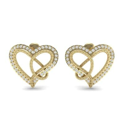 Lasso Heart Diamond Earrings (0.36 CTW) Side View