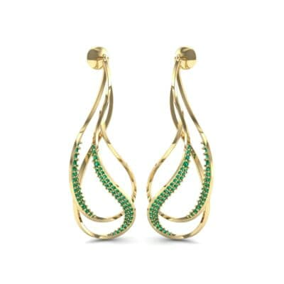 Filament Emerald Earrings (0.84 CTW) Perspective View