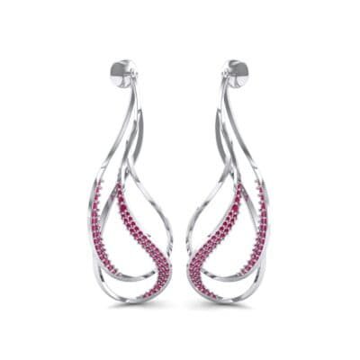 Filament Ruby Earrings (0.84 CTW) Perspective View
