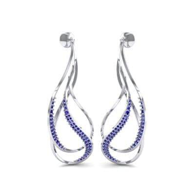 Filament Blue Sapphire Earrings (0.84 CTW) Perspective View