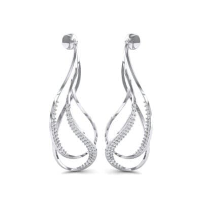 Filament Diamond Earrings (0.84 CTW) Perspective View