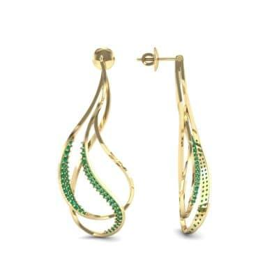Filament Emerald Earrings (0.84 CTW) Top Dynamic View
