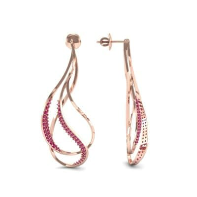 Filament Ruby Earrings (0.84 CTW) Top Dynamic View