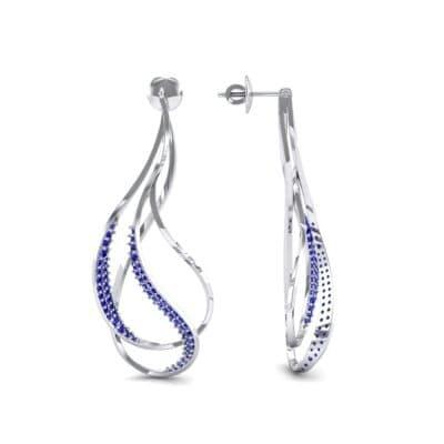 Filament Blue Sapphire Earrings (0.84 CTW) Top Dynamic View