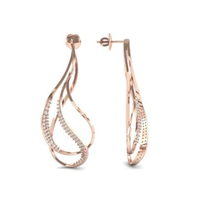 Filament Diamond Earrings (0.84 CTW) Top Dynamic View