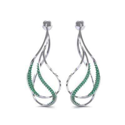 Filament Emerald Earrings (0.84 CTW) Side View