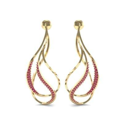 Filament Ruby Earrings (0.84 CTW) Side View