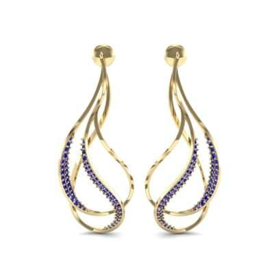 Filament Blue Sapphire Earrings (0.84 CTW) Side View