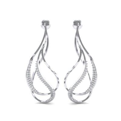 Filament Diamond Earrings (0.84 CTW) Side View