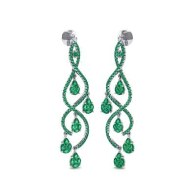 Cascade Emerald Earrings (2.97 CTW) Perspective View