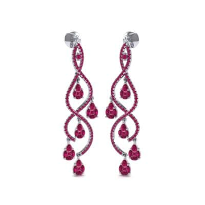 Cascade Ruby Earrings (2.97 CTW) Perspective View