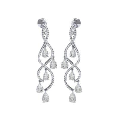 Cascade Diamond Earrings (2.97 CTW) Perspective View